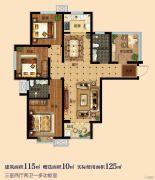 淳茂公园城4室2厅2卫115--125平方米户型图