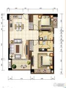 沙巴岛2室1厅2卫89平方米户型图