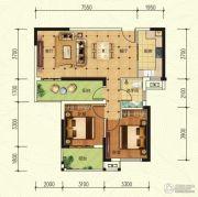 中建宜城春晓2室2厅1卫89平方米户型图