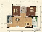 碧园・大城小院2室2厅1卫83平方米户型图