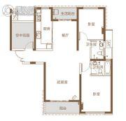 北辰三角洲3室2厅2卫118平方米户型图
