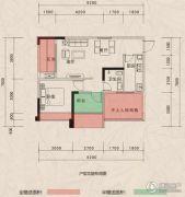 翰林府邸2室2厅1卫59--81平方米户型图
