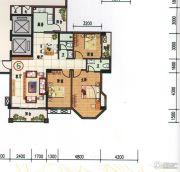 府前雅居苑3室2厅2卫123平方米户型图