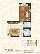 国宾府1室1厅1卫40--55平方米户型图