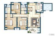 灏景湾3室2厅2卫90平方米户型图