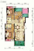 渝能嘉湾壹号3室2厅2卫100平方米户型图