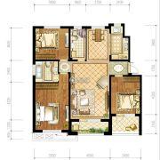 苏宁绿谷庄园3室2厅2卫134--135平方米户型图