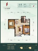 汇福悦榕湾2室2厅1卫84平方米户型图