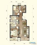 万科假日风景3室2厅1卫107平方米户型图