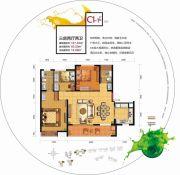 中邦・御珑湾3室2厅2卫107平方米户型图