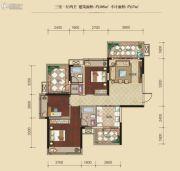 联发柳雍府3室1厅2卫105平方米户型图