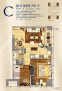 升龙汇金中心2室2厅1卫91平方米户型图
