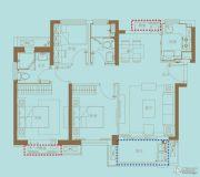中海世茂府3室2厅2卫0平方米户型图