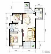 山海城邦・马街摩尔城2室2厅1卫91平方米户型图
