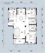 天汇龙城3室2厅2卫130--132平方米户型图