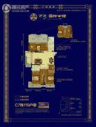 万达华府3室2厅1卫119--120平方米户型图