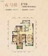 和泓江山国际3室2厅2卫0平方米户型图