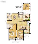 绿洲天逸城3室2厅2卫133平方米户型图