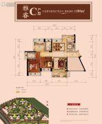 星河丹堤花园4室2厅2卫104平方米户型图