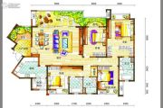 新鸿基悦城4室2厅3卫199平方米户型图