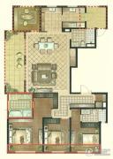 景瑞望府4室2厅3卫187平方米户型图