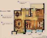 金科财富商业广场3室2厅1卫89平方米户型图