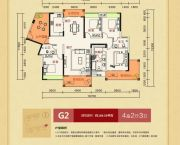 潇湘・山水城4室2厅3卫189平方米户型图