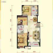 保利紫荆公馆3室2厅1卫109平方米户型图