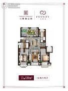 万科翡翠公园3室2厅2卫120平方米户型图