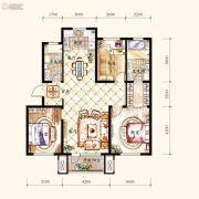 保利・白沙林语3室2厅2卫123平方米户型图
