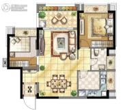壹号公馆2室2厅1卫0平方米户型图