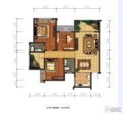 兴盛天鹅堡3室2厅2卫106平方米户型图