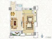 恒大翡翠华庭2室2厅1卫92平方米户型图
