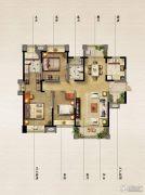 保利原乡3室2厅2卫150平方米户型图