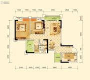 沱东印象3室2厅1卫88平方米户型图