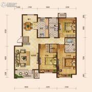 保利海上五月花3室2厅2卫125平方米户型图
