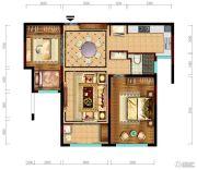 阳光城市・晶海园2室2厅1卫89平方米户型图
