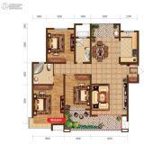 润德天悦城3室2厅2卫133平方米户型图