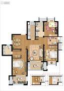 招商学府18723室2厅2卫123平方米户型图