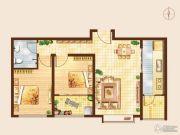 知山雅筑2室2厅1卫70平方米户型图