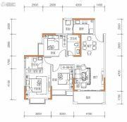 保华铂郡3室2厅2卫106平方米户型图