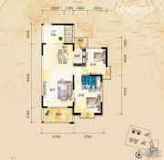 三祺长岛花园2室2厅1卫93平方米户型图