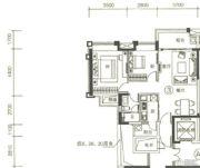 富力天禧花园2室2厅1卫78平方米户型图