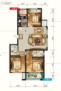 润德天悦城3室2厅2卫129平方米户型图