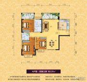 浯溪御园3室2厅2卫120平方米户型图