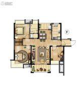 万科红郡3室2厅1卫96平方米户型图