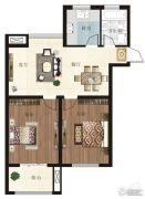 金色蓝庭2室1厅1卫95平方米户型图