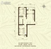 新城国际2室1厅1卫65平方米户型图