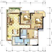 蓝光COCO香江2期3室2厅1卫0平方米户型图