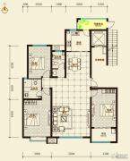 鑫界9号院3室2厅2卫154平方米户型图